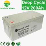 12V 200Ah Ciclo profundo de chumbo de foguetes bateria solar
