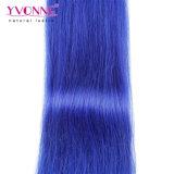 Yvonne 페루 Remy 머리 연장 자연적인 똑바른 색깔 파랑 머리