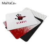 スリップ防止マウスDIYデザイン血のGamerのパソコンの大きい賭博のラップトップの血のマウスパッドの黒のペンキのゴム製マウスパッド