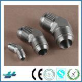 El cono estándar de DK-Lok Jic del acero inoxidable señaló por medio de luces las guarniciones de tubo