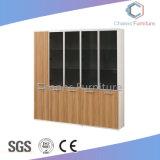 Mobilier de bureau de vente chaude deux portes armoire en bois avec verre (CAS-FC31405)