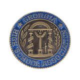 Personalziedの記念品のための金によってめっきされる柔らかいエナメルのゲームの金属の硬貨