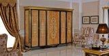 0061 황금 Europ 왕 디자인 고전적인 단단한 나무 특대 침실