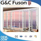 Double porte de pliage en aluminium externe en verre Tempered