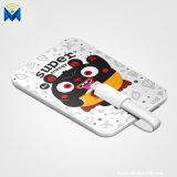 Mini côté portatif mignon mobile d'alimentation externe du dessin animé 3200mAh pour l'iPhone d'Apple avec le câble de remplissage de foudre