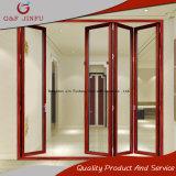 Porta de dobradura de vista de madeira do perfil de alumínio para o uso interior