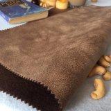 Tessuto decorativo domestico 100% della pelle scamosciata del poliestere