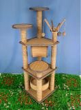 Árvore material Scratcher do gato do sisal, gato que risca a árvore