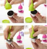 Eco- freundlicher Colorfur Blatt-Tee-Set-Silikon-Gummi-Tee Infuser