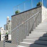 Escalier d'Inox clôturant la balustrade extérieure de Rod de balcon d'acier inoxydable