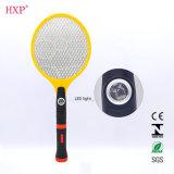Swatter recarregável do mosquito com tocha do diodo emissor de luz