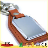 Business Promotional Custom Logo Metal Tag Leather Key Holder