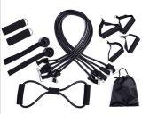 15PCS/Set適性の抵抗バンド引きロープの伸縮性がある練習力のトレーニング