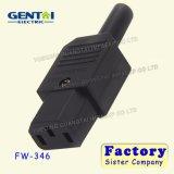 Enchufe de potencia del conector C14 del IEC 320 al enchufe de la CA del adaptador de la potencia del socket C13