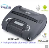 4 pulgadas de la impresora térmica móvil Bluetooth Woosim Pas-I450
