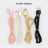 3FT cable de carga USB trenzado Nylon Metal Head para teléfono móvil
