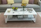 최신 판매 MDF 호두 단단한 유리제 커피용 탁자