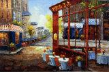 壁の装飾のためのハンドメイドの通り場面キャンバスの油絵