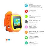 Cabritos del reloj del perseguidor de GPS/Lbs/WiFi con el botón de pánico el SOS