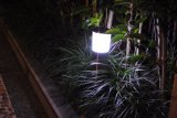 Lumières solaires de bâton de jardin d'acier inoxydable, lumière solaire