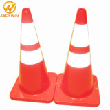 Cône r3fléchissant élevé de PVC de sécurité routière de feuille