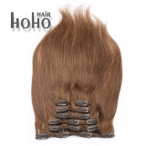 Colore poco costoso del Brown di prezzi una clip da 20 pollici nelle estensioni dei capelli