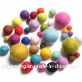 صوف بوليستر لباد كرة زاويّة من لون مختلفة
