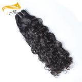 自然で黒く加工されていないバージンの毛の手によって結ばれるブラジルの毛