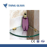 8мм Clear/цветной/матового закаленного стекла полки в угол/ стеклянные полки