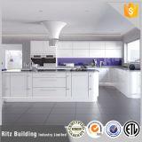 Ritzの造りの現代様式の台所のための白く光沢度の高いラッカー食器棚