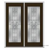 """Les grils internes plein Lite en aluminium Lowe 66 """" dans-Balancent de doubles portes de patio"""