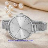 Relojes de encargo de la manera del reloj del cuarzo de la insignia para las señoras de los hombres (WY-17006A)