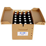 Коробка несущей пива 4 бутылок с таможней напечатала