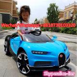 Passeio dos miúdos do carro elétrico das crianças de Bugatti do modelo novo no carro