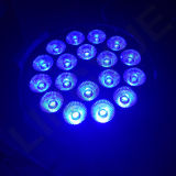 LED 단계 빛 18PCS*18W UV RGBWA 6in1 LED 동위 빛