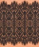 Het in het groot Zwarte Kant van het Borduurwerk van het Lint van de Polyester