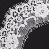 Weiße färbende Spitze-Ineinander greifen-Tulle-Schweizer Voile-Spitze für Kleid-Zubehör