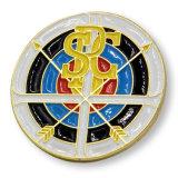 Distintivo satellite di marchio dello smalto molle del metallo per Rotary Club