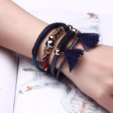 Form-Entwurfs-Armband-handgemachtes Frauen-Armband-Förderung-Geschenk-Schmucksache-Leder-Charme-Armband