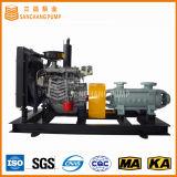 Pompe centrifuge multi-étages avec des roues contraintes à usage minier