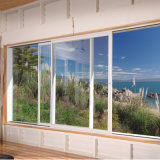 Estándar australiano de la ventana de plegado de perfiles de aluminio con cristal templado