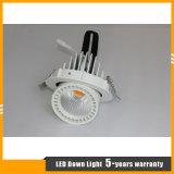 El cardán embutido de la MAZORCA de 30W LED abajo se enciende para la iluminación de los departamentos