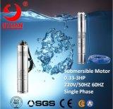 Qj 4インチの単一フェーズ浸水許容ポンプモーター試錐孔ポンプ