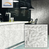 73x73mm grises Hexagon baldosas mosaico de vidrio para pared Backsplash