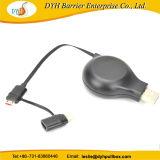 Cable retráctil mini cargador USB cargador 2 en 1