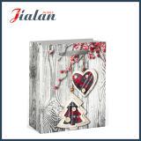 4c imprimé Wood Style d'emballage des cadeaux de Noël Shopping sac de papier