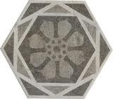 Azulejo de suelo de Porcalain del modelo de flor del material de construcción del hexágono de la absorción de agua inferior