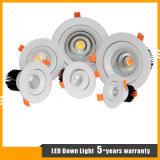 크리 사람 LED 10W에 의하여 중단되는 옥수수 속 LED 천장 반점 빛