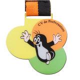2017 baratos personalizados impresión oro chapado de aleación de zinc metal Animal medalla con adhesivo para eventos deportivos (YB-M-030)