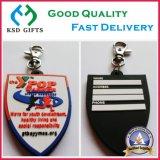 PVC barato feito sob encomenda Keychain do anel chave do logotipo